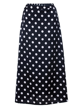 Ericdress Mid-Calf Polka Dots Women's Skirt