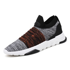 Ericdress Color Block Mid-Cut Slip-On Men's Sneakers