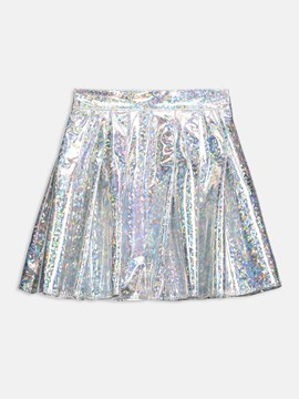 Ericdress A-Line Metallic Color Women's Mini Skirt