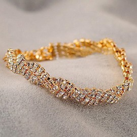 Ericdress Fulled-Diamanted Bracelet