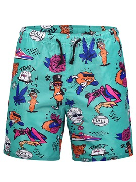 Ericdress Cartoon Printed Mens Beach Board Sim Shorts