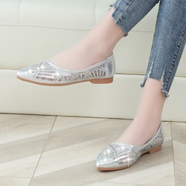 Ericdress Diamond Slip-On Patchwork Pointed Toe Pumps