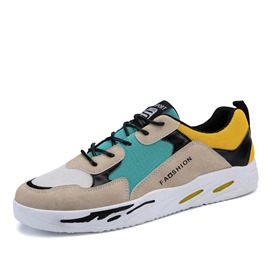 Ericdress Lace-Up Patchwork Color Block Men's Sneakers