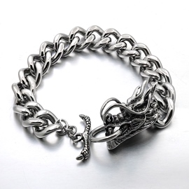 Ericdress Dragon Head Men's Bracelet