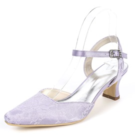 Ericdress Lace Ankle Strap Women's Wedding Shoes