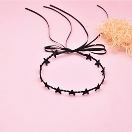 Ericdres Black Star Choker Necklace