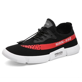 Ericdress Print Letter Elastic Band Round Toe Men's Sneakers