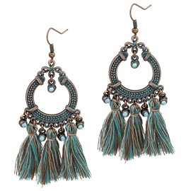 Ericdress Donut Tassels Earrings