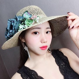 Ericdress Flower Straw Sunhat