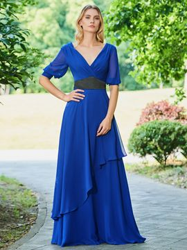 Ericdress Chiffon Half Sleeves Mother of the Bride Dress