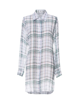 Ericdress Lapel Button-Down Gingham Womens Top