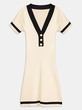 Falbala Lace up Women's Day Dress