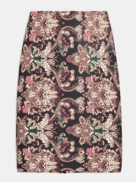 Floral Print Bodycon Women's Skirt