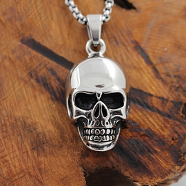 Ericdress Skull Titanium Steel Necklace