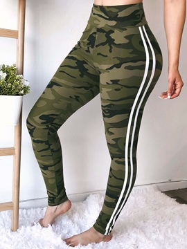 Ericdress Camouflage Skinny Print High-Waist Casual Pants
