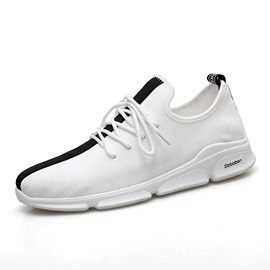 Ericdress Lace-Up Patchwork Round Toe Men's Sneakers
