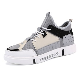 Ericdress Color Block Patchwork Lace-Up Men's Sneakers