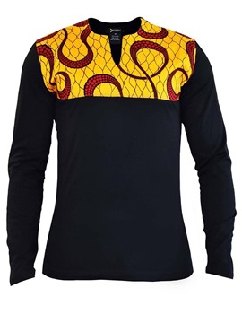 Ericdress Geometric Pattern Printed Mens Long Sleeve Shirts