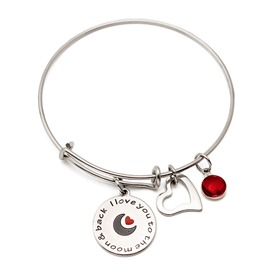 Ericdress Moon&Back Birthday Stone Bracelet