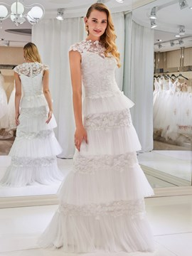 Ericdress Sheath Lace Wedding Dress
