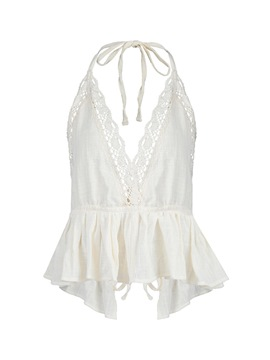 Ericdress Tunic Peplum Lace Womens Vest