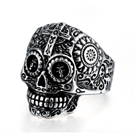 Ericdress Cross Skull Ring