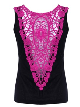 Ericdress Patchwork Lace Summer Womens Vest