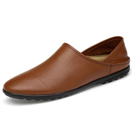 Ericdress PU Slip-On Round Toe Low-Cut Men's Casual Shoes