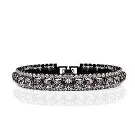 Ericdress Black Crystal Bracelet
