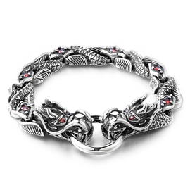 Ericdress Double Dragon Head Bracelet