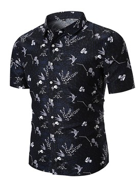 Ericdress Animal Plant Printed Mens Short Sleeve Shirts