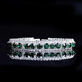 Ericdress Emerald Diamanted Bracelet
