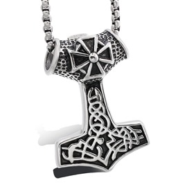 Ericdress Hammer Titanium Steel Necklace