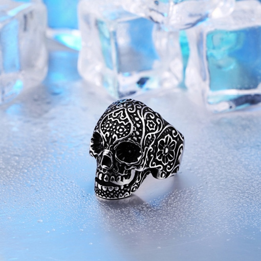Ericdress Skull Carving Ring