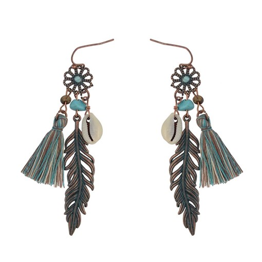 Ericdress Leafage Shell Drop Earrings