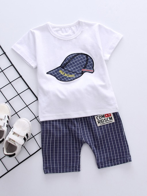 Ericdress Letter Plaid T Shirts & Pants Baby Boy's Outfits