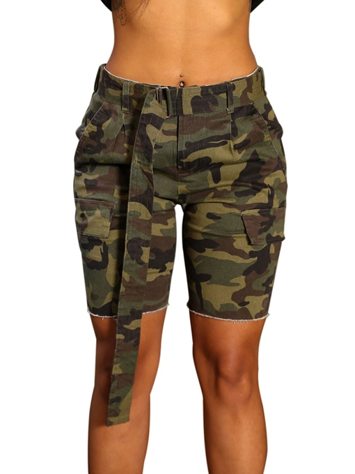 Ericdress Camouflage Women's Shorts