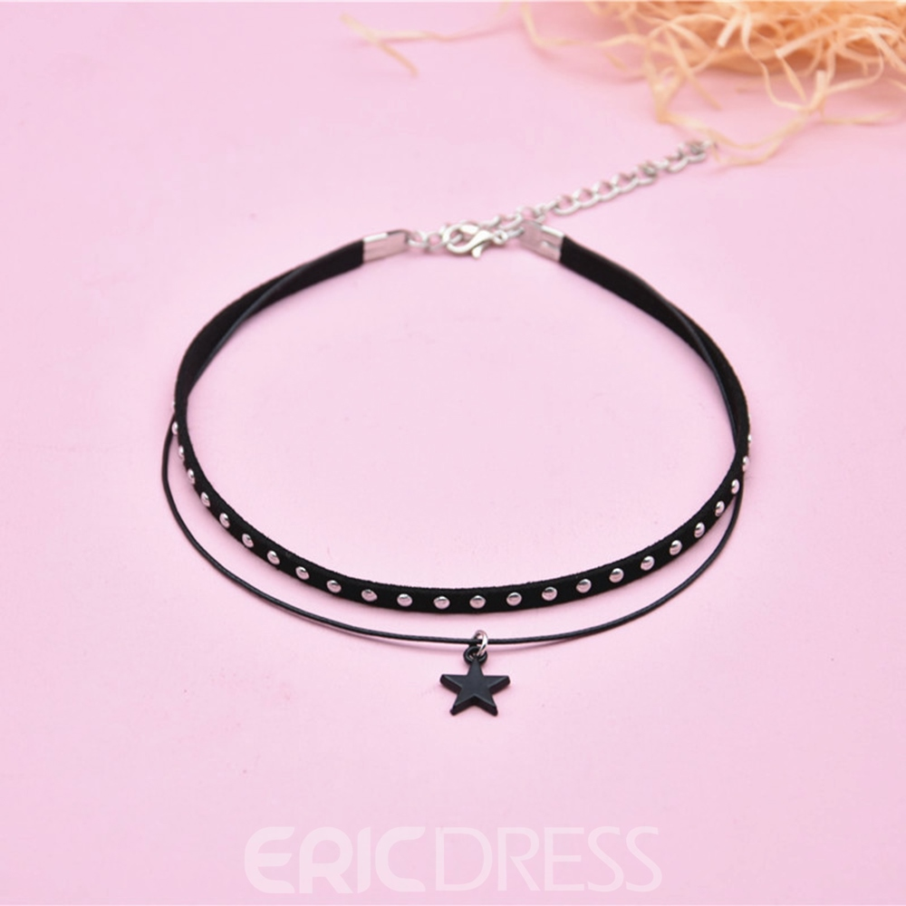 Ericdress Rivet&Star Choker Necklace