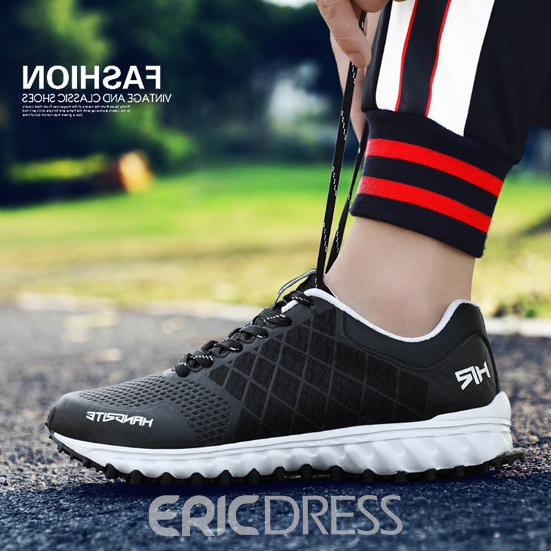 Ericdress Mesh Print Lace-Up Round Toe Men's Sneakers