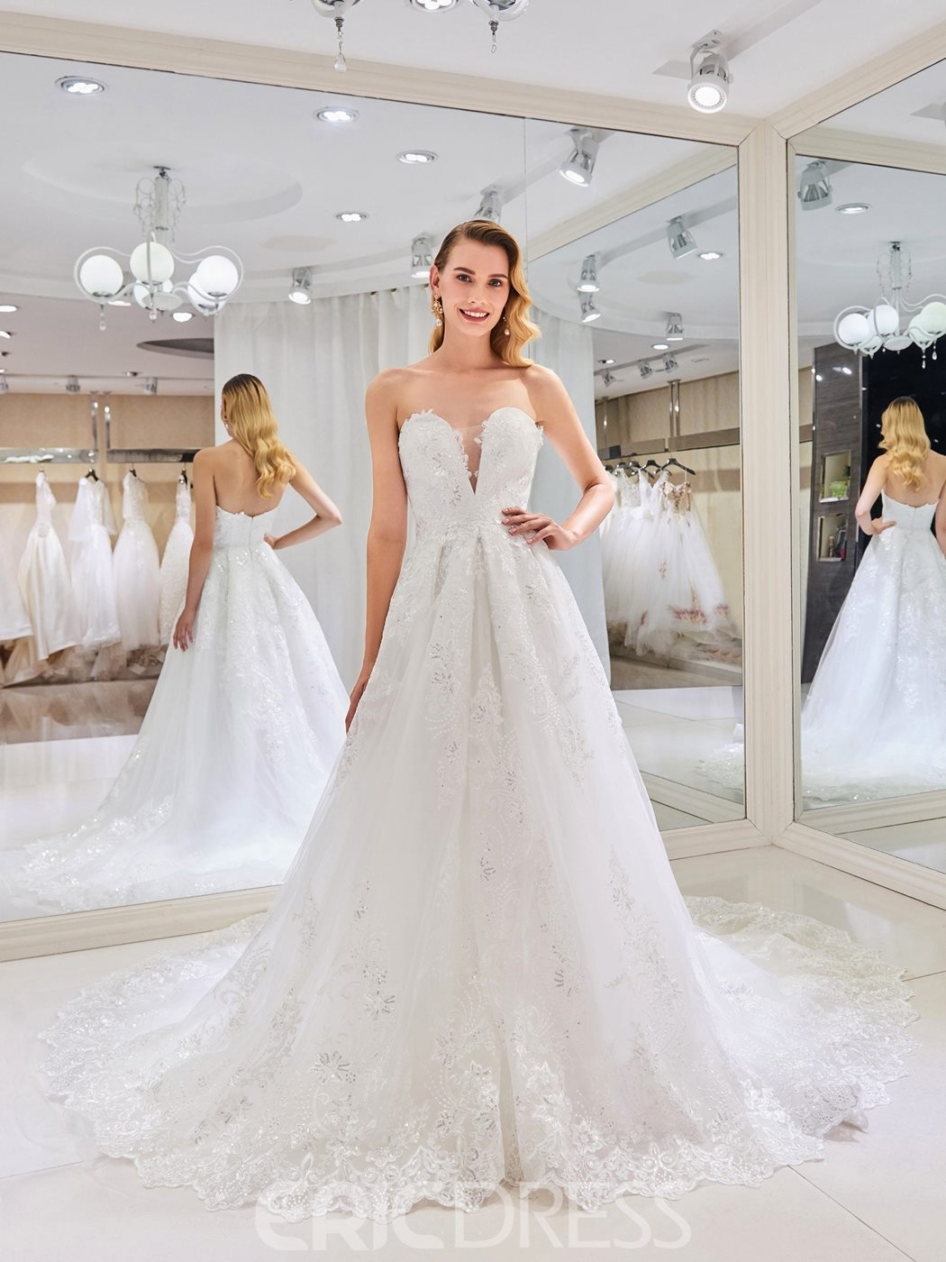 Ericdress Sweetheart Ball Gown Wedding Dress 13302778 - Ericdress.com