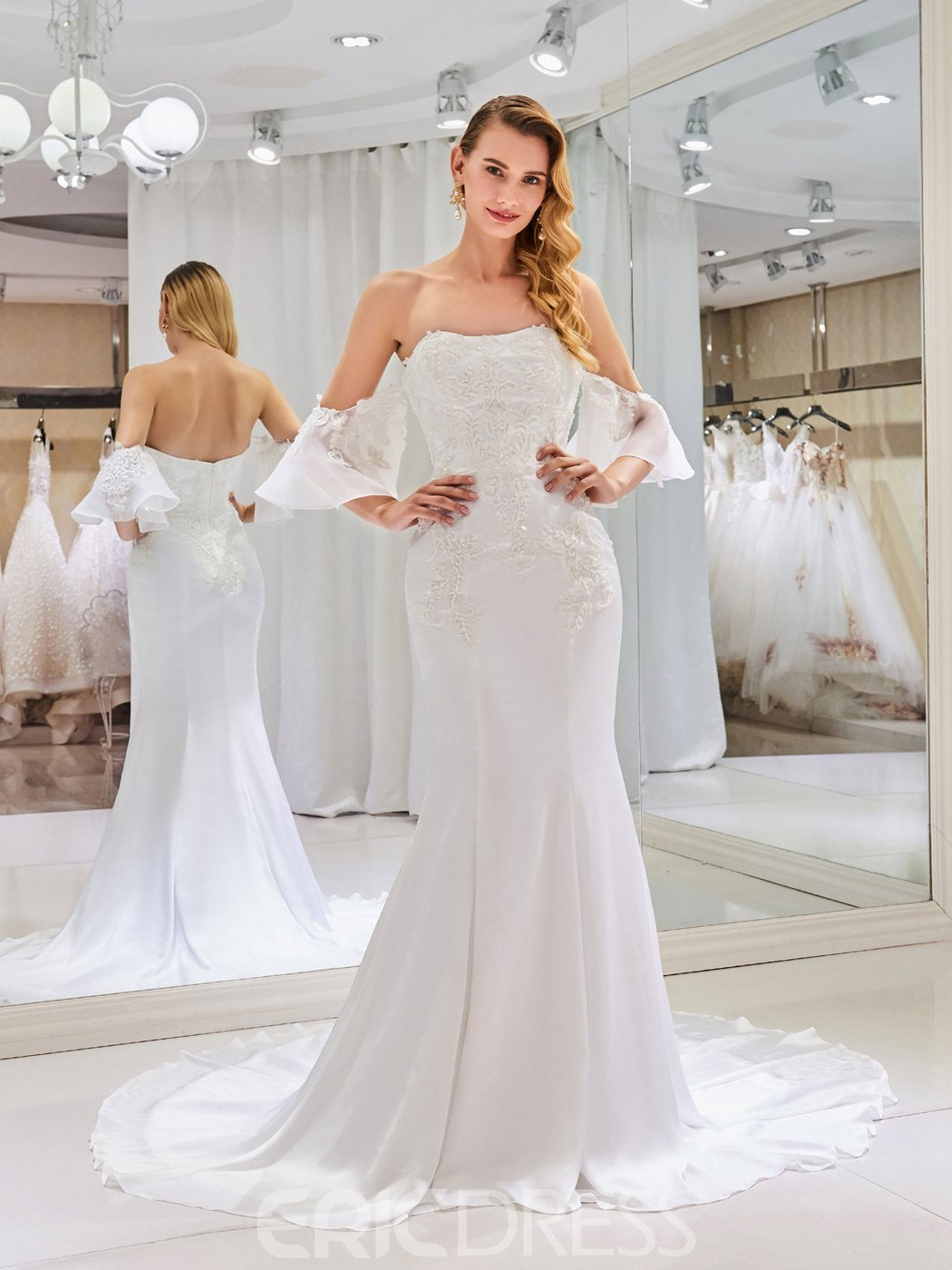 Ericdress Strapless Mermaid Wedding Dress