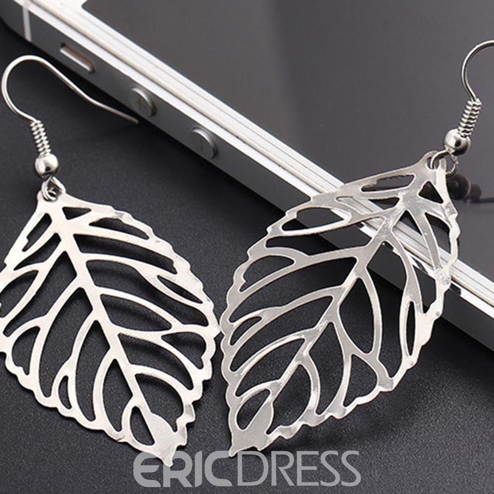 Ericdress Hollow Out The Leaves Earrings