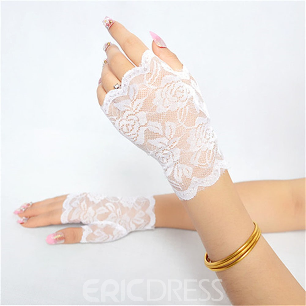 Ericdress Lace Half Gloves