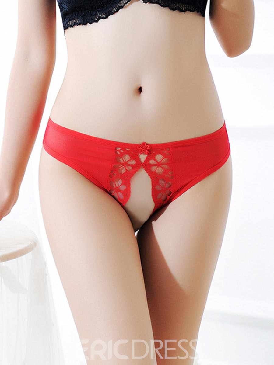Ericdress Crotchless Low-Waist Lace Sexy Panty