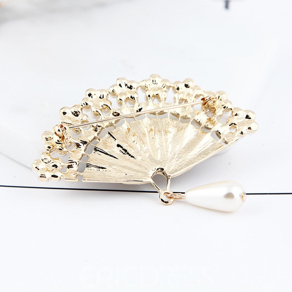 Ericdress Pearl Peacock Brooch