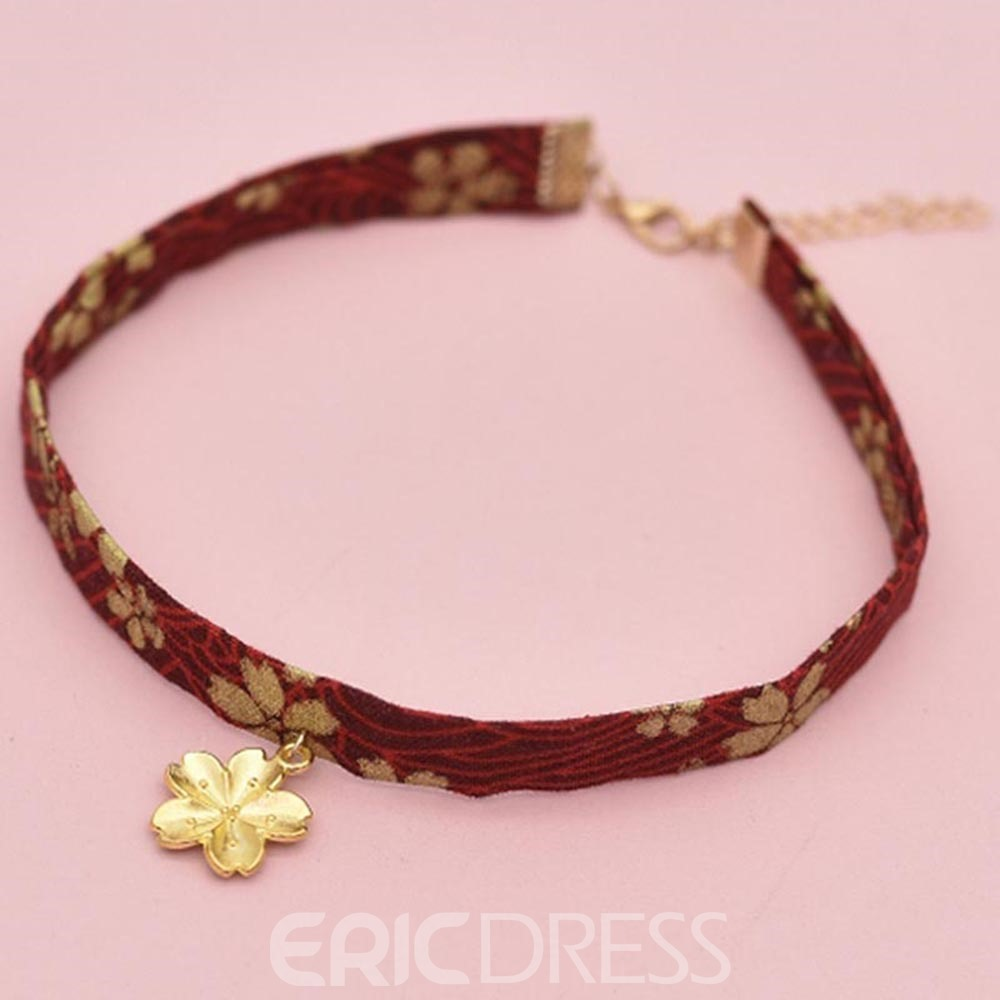 Ericdress Sakura&Sea Mew Choker Necklace