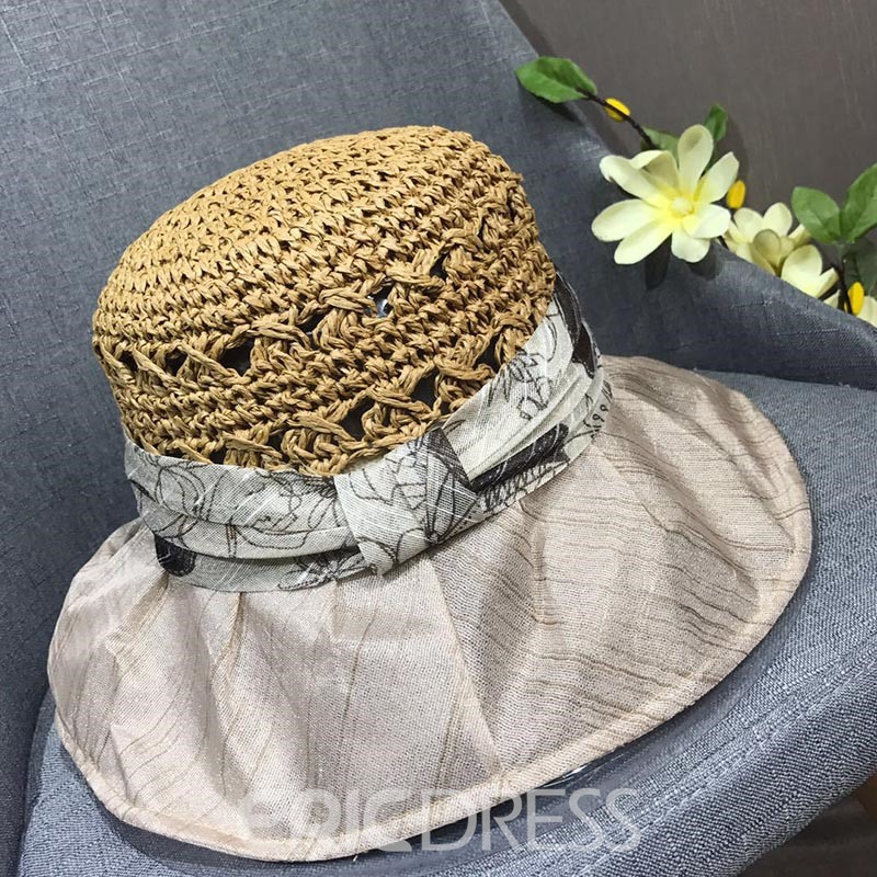 Eridress Handmade Straw Bucket Hat