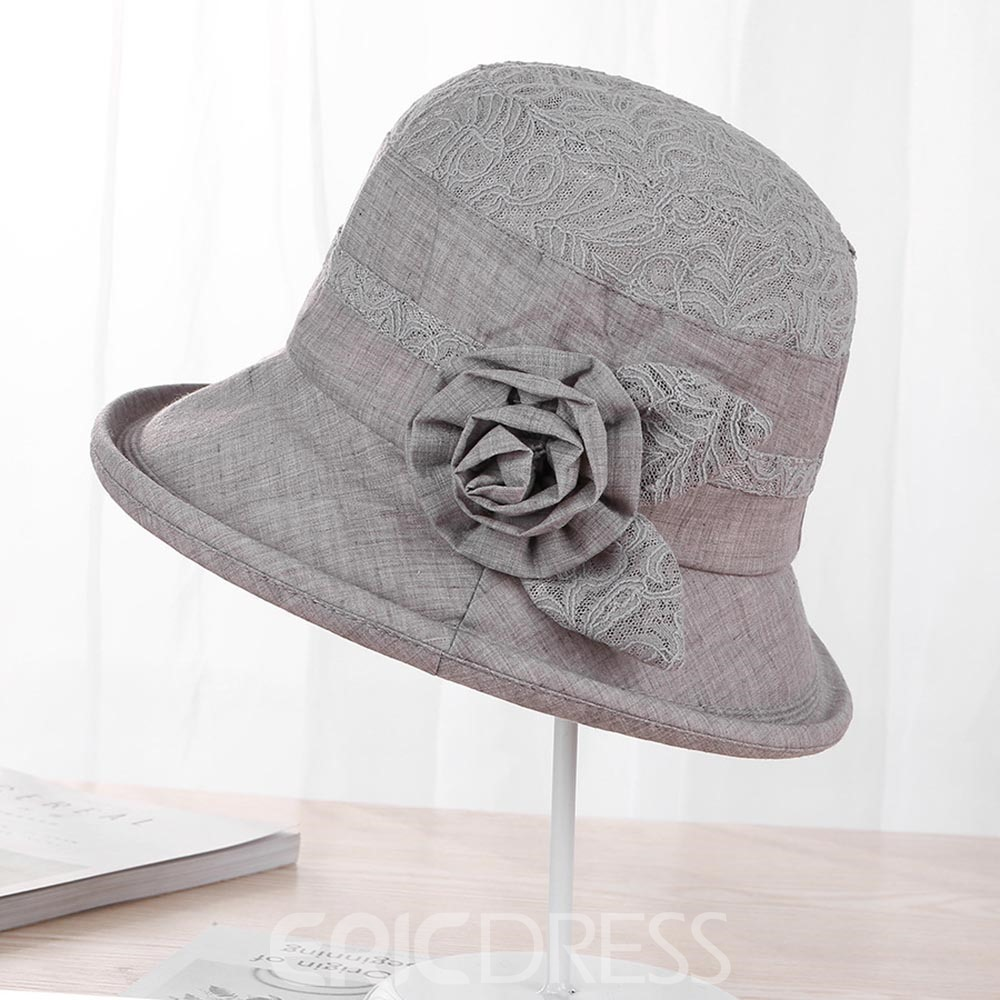 Ericdress Cotton & Linen Sun Hat