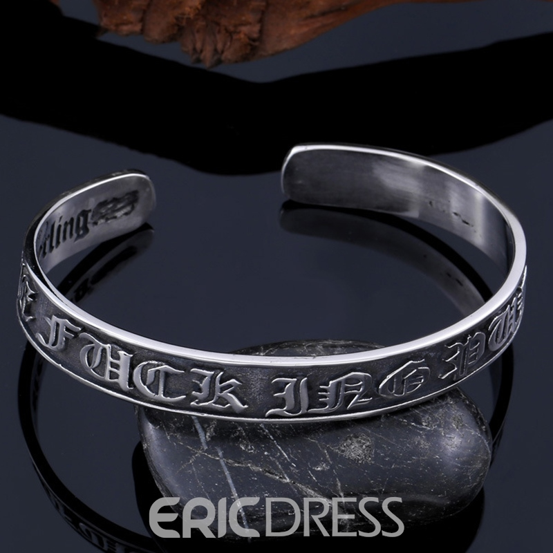 Ericdress Carving Black Bracelet
