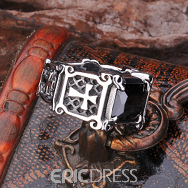Ericdress Gem Cross Ring